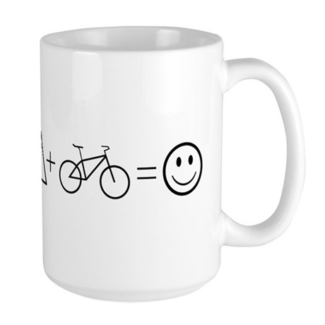 CafePress Mountain Bike Happiness Mugs