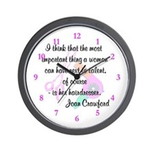 FUN HAIR QUOTE Wall Clock