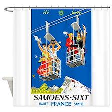 Ski Lift, Winter,Snow, France, Vintage Poster Show