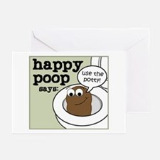 Happy Poop Potty Greeting Cards (Pk of 10)