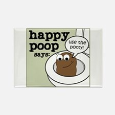 Happy Poop Potty Rectangle Magnet
