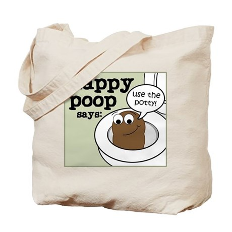 Happy Poop Potty Tote Bag