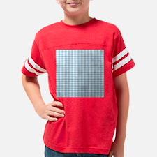 Blue Flannel Pillow Youth Football Shirt