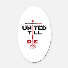 Unique Slogans Oval Car Magnet