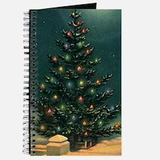 Vintage Christmas Tree Journal