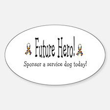 Future Hero! Oval Decal