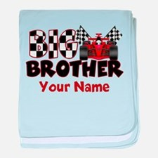 Big Brother Race Car baby blanket