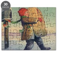 Vintage Child with Package Puzzle