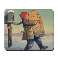 Vintage Child with Package Mousepad