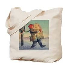 Vintage Child with Package Tote Bag
