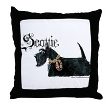Celtic Scottish Terrier Throw Pillow