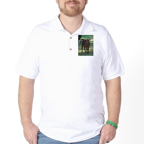 angus calf Golf Shirt