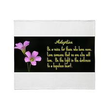 Adoption Throw Blanket