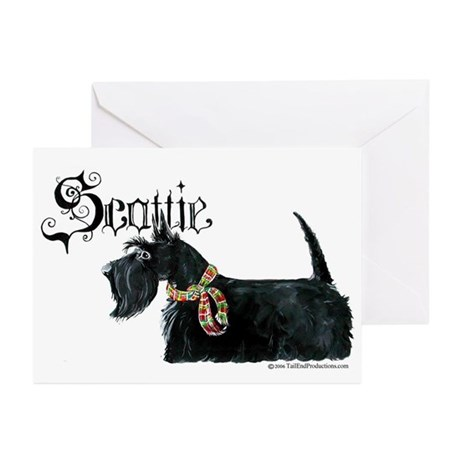Celtic Scottish Terrier Greeting Cards (Package of
