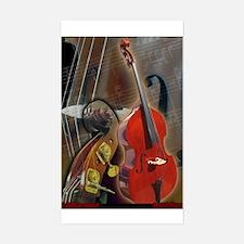 Upright Bass Art 1 Rectangle Decal