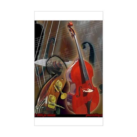 Upright Bass Art 1 Rectangle Sticker