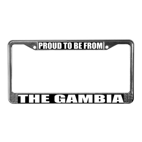 Gambia License Plate Frame