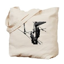 Hot Stick, Grayscale for Light Colored Items Tote