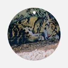 Clouded Leopard series 3 Ornament (Round)