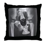 GNOME SHOVED UP REAR END - Throw Pillow