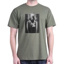 Pelvis Xray w/ Gnome T-Shirt Military Green