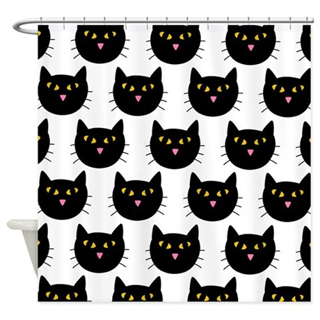 'Black Cats' Shower Curtain