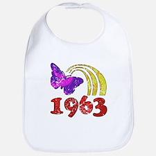 1963 Birthday (Colorful) Bib