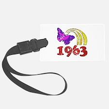 1963 Birthday (Colorful) Luggage Tag