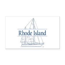 Rhode Island - Rectangle Car Magnet