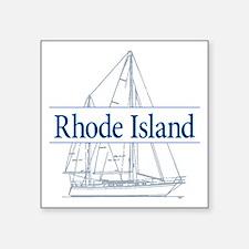 "Rhode Island - Square Sticker 3"" x 3"""