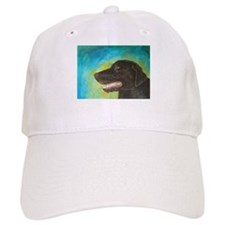 Black Labrador Retriever Dog Baseball Baseball Baseball Cap