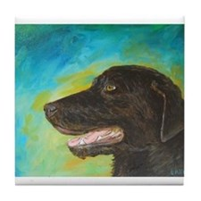 Black Labrador Retriever Dog Tile Coaster
