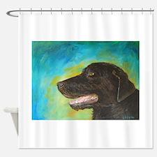 Black Labrador Retriever Dog Shower Curtain