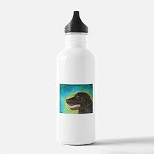 Black Labrador Retriever Dog Water Bottle