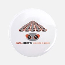 """SZLBOT we come in peace 3.5"""" Button (100 pack)"""