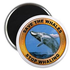 "Save Whales Stop Whaling 2.25"" Magnet (10 pack)"
