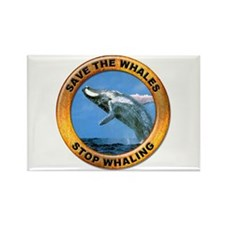 Save Whales Stop Whaling Rectangle Magnet