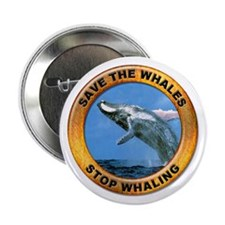 Save Whales Stop Whaling Button
