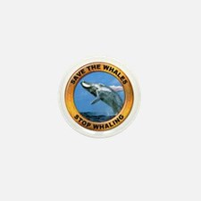 Save Whales Stop Whaling Mini Button