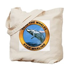 Save Whales Stop Whaling Tote Bag