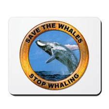 Save Whales Stop Whaling Mousepad