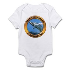 Save Whales Stop Whaling Infant Bodysuit