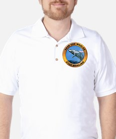 Save Whales Stop Whaling Golf Shirt