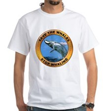 Save Whales Stop Whaling (Front) Shirt
