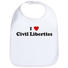 I Love Civil Liberties Bib