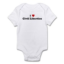 I Love Civil Liberties Infant Bodysuit