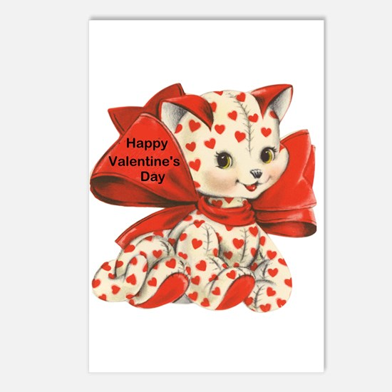 Cat- Happy Valentine's Day Postcards (Package of 8