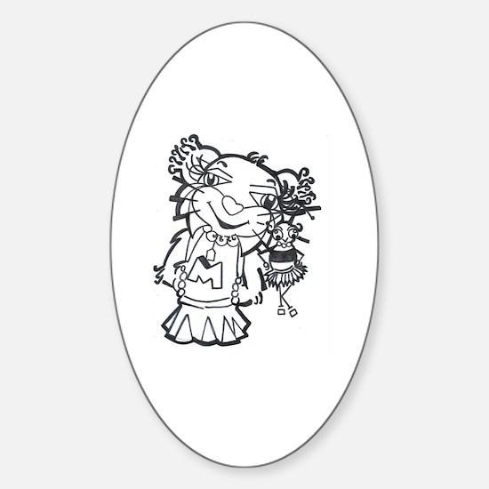 Cute Myah Sticker (Oval)