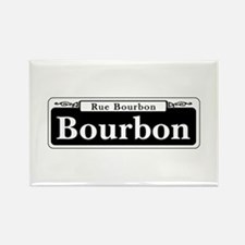 Bourbon St., New Orleans Rectangle Magnet