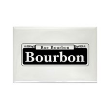 Bourbon St., New Orleans - USA Rectangle Magnet (1